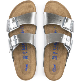 Birkenstock Arizona SFB Sandals Smooth Leather Dame Metallic Silver